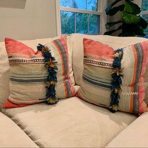 Anthropologie Throw Pillow Set (2)